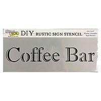 TCW DYI sign stencil Coffee Bar