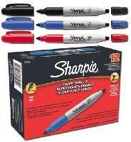 Sharpie twin tip black