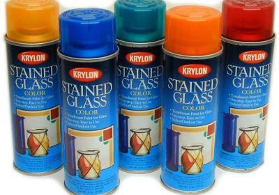 Krylon stained glass color Orange 6oz