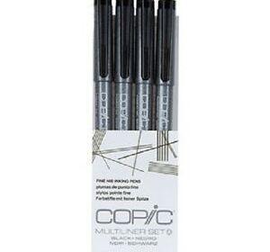 Copic Multiliner Fine Nib Pen 4 Set