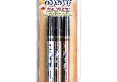 YC Calligraphy Metallic Marker 3 set