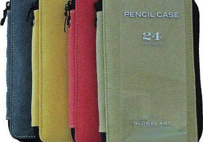 Canvas Pencil Cases, 24 Pencil Capacity Olive