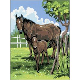 R&L Paint by Number Jr. Mare & Foal