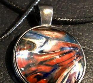Acrylic Pour Necklace 35
