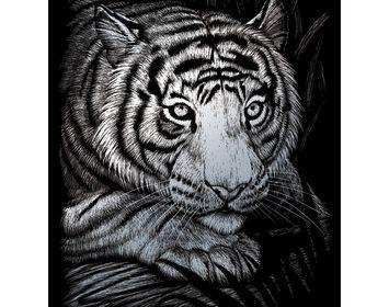 Silver Engraving White  Tiger