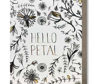 Coloring Card-Hello Petal