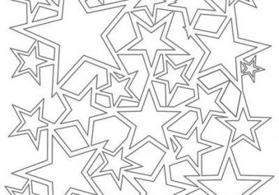 6 x 6 Mini Star Shower Stencil