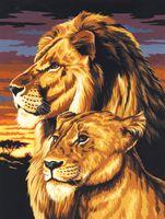 Paint by # Lion & Lioness Canvas