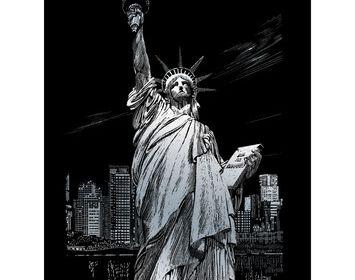 Engraving Art Statue of Liberty