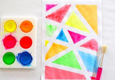 Low-Mess Washable 6-Color Paint Disc Sets, Fluoro Colors
