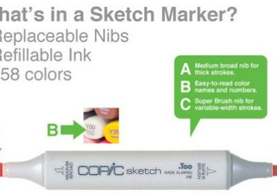 Copic G21 Lime Green sketch