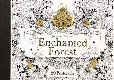 Enchanted Forest Coloring Postcard