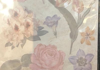 Embossed  Stickers Antiquity Flowers