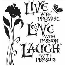 6 x 6 Mini Live Love Laugh Stencil