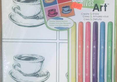 Canvas Art Markers Teacups