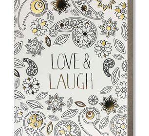 Coloring Card-Love & Laugh