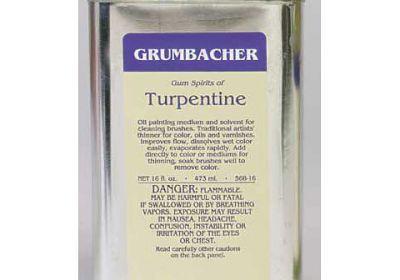 Grumbacher Turpentine 2oz