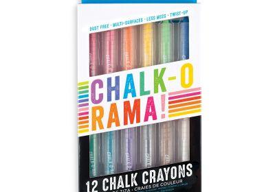 Ooly Chalk-O-Rama-Dustless-Chalk-Crayons 12 Set