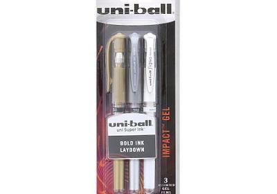 Uniball gel pen 3 color pk