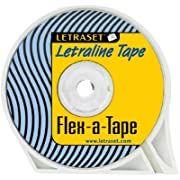 Letraset Letraline Flex-a-Tape 2.4mm  x 54' Blk