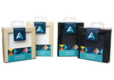 Mini Canvas & Frame sets (Black)