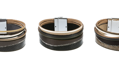 Multi band  Bracelet Magnetic Clasp
