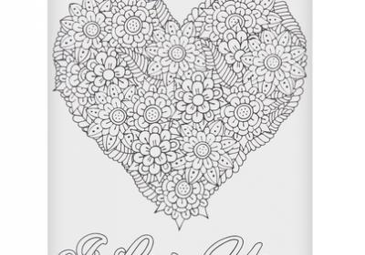 Coloring Postcard-I Love You