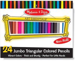 Melissa & Doug 24 pk jumbo triangle colored pencil sets