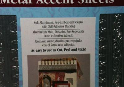 ArtEmboss Peel 'N Stick Metal Accent Sheets