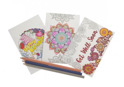 Coloring Postcard-Hearts