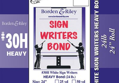 Sign writer's bond 25yds