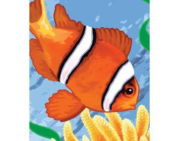 Clown Fish MiniI PBN 5 X 7