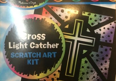 Scratch Art Cross Light Catcher