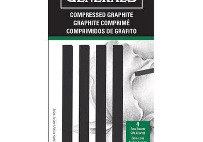 Generals compressed graphite art sticks 4pk
