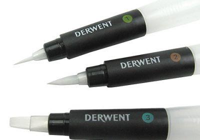 Derwent waterbrush chisle tip