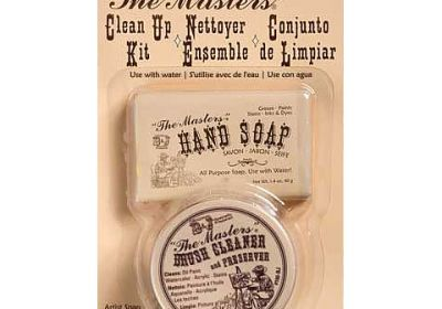 The Masters pack brush soap