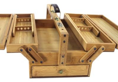 Art Advantage Bamboo Multi-Purpose Tool Box