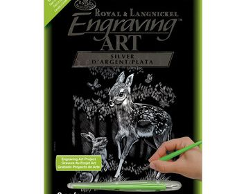 R&L Engraving Art Holographic Fawn & Bunny