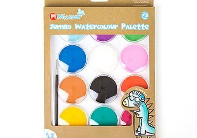 Jumbo Watercolour 12-Color Palette