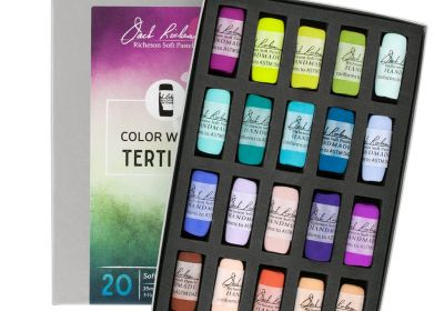 JR Hand rolled Pastel set 20 Color Wheel Tertiary
