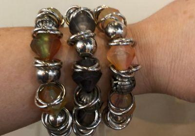 Ganz dual tone bracelets