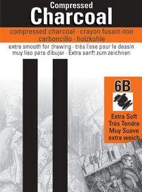 Generals compressed charcoal 6B 2pk