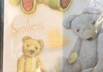 Embossed  Stickers Teddy Images