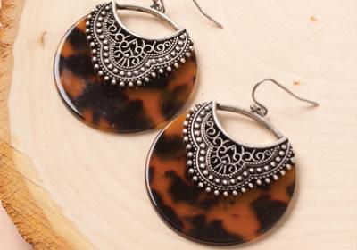 Earrings 3014 Teak