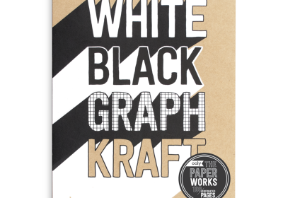 White Black Graph Kraft Sketch Book