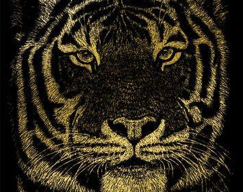 R&L engraving tiger
