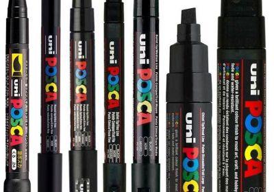 POSCA Acrylic Paint Marker Sets, 8-Marker All Black Set