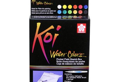 Koi 30 Color Transparent W/C Pocket Box