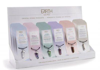 Earth Luxe Crystal Stone Pendants