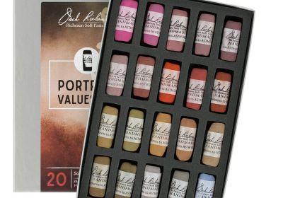 JR Hand rolled Pastel set 20 Portrait Values 3-4